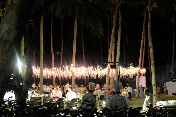 A wedding at the Shangri-La resort